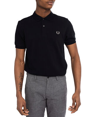 Fred Perry Plain Fred Perry Shirt Black/Chrome
