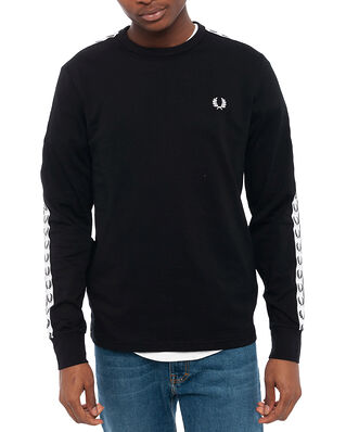 Fred Perry Taped L/S T-Shirt Black