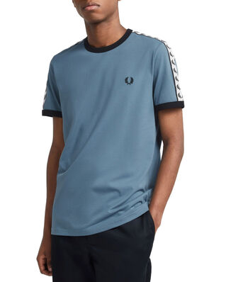 Fred Perry Taped Ringer T-Shirt BLUE SLATE
