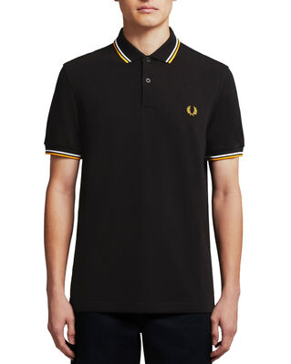 Fred Perry Twin Tipped Fp Shirt BLACK/WHT/GOLD