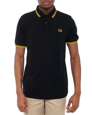 Fred Perry Twin Tipped Fp Shirt Blk/New Yellow