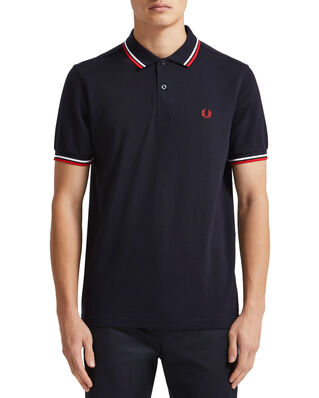 Fred Perry Twin Tipped Fp Shirt Navy/White
