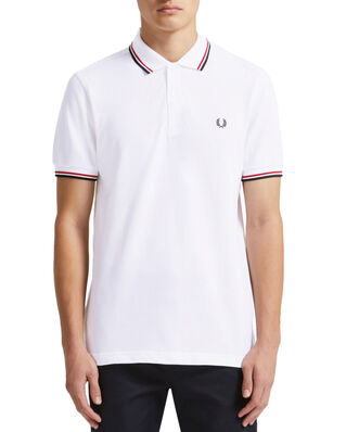 Fred Perry Twin Tipped Fp Shirt WHT/BRT RED/NVY