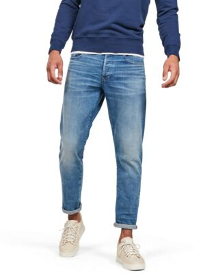 G-Star RAW 3301 Straight Tapered Worn In Azure