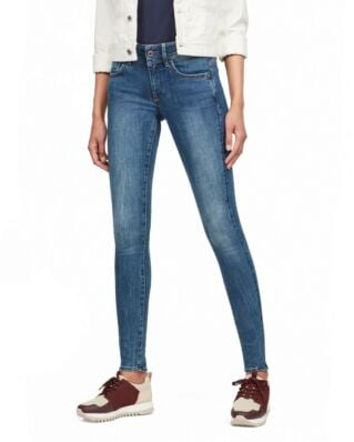 G-Star RAW Lynn Mid Super Skinny Wmn Faded Blue