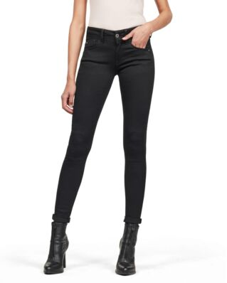 G-Star RAW Lynn Mid Super Skinny Wmn Pitch Black
