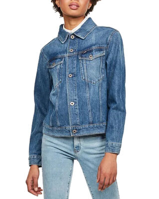 G-Star RAW 3301 Straight Dnm Jkt Wmn Faded Shore