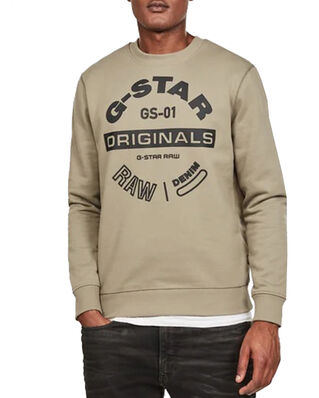 G-Star RAW Originals Logo Gr R Sw L\S Shamrock