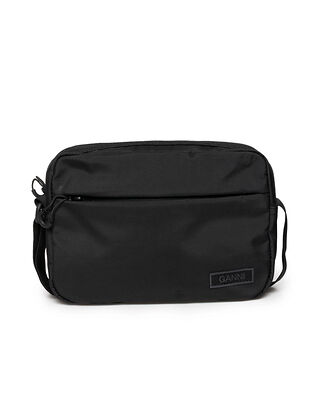 Ganni Recycled Tech Fabric Festival Bag Black