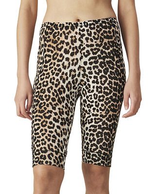 Ganni Rayon Underwear Short Leggings Leopard