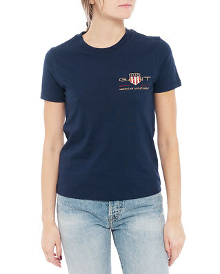 Gant Archive Shield Ss T-Shirt Evening Blue