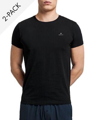 Gant C-neck T-shirt 2-pack Black