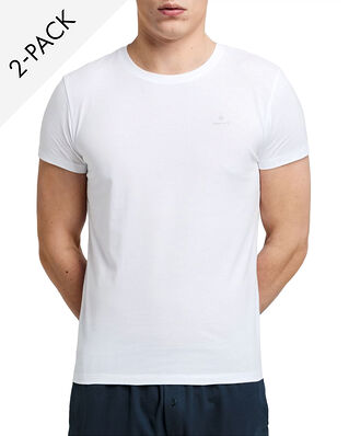Gant C-neck T-shirt 2-pack White