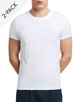 Gant C-neck T-shirt 2-pack White