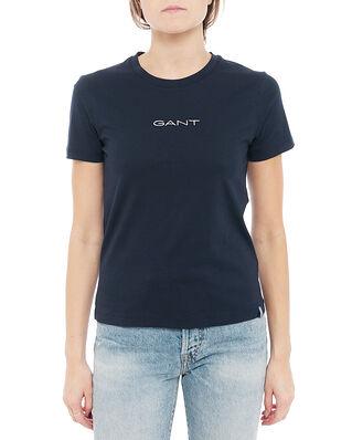 Gant D1. 13 Stripes Ss T-Shirt Evening Blue