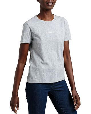 Gant D1. 13 Stripes Ss T-Shirt Grey Melange