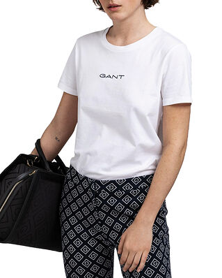 Gant D1. 13 Stripes Ss T-Shirt White