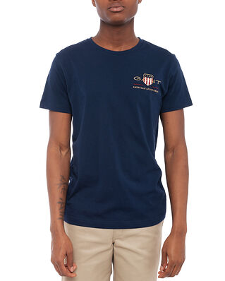 Gant D1. Archive Shield Emb Ss T-Shirt Evening Blue