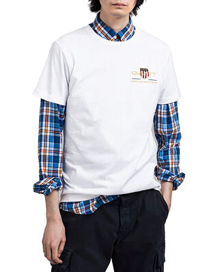 Gant D1. Archive Shield Emb Ss T-Shirt White