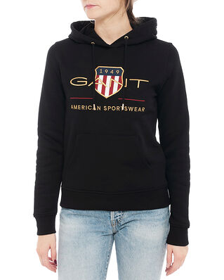 Gant D1. Archive Shield Sweat Hoodie Black