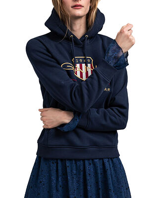 Gant D1. Archive Shield Sweat Hoodie Evening Blue