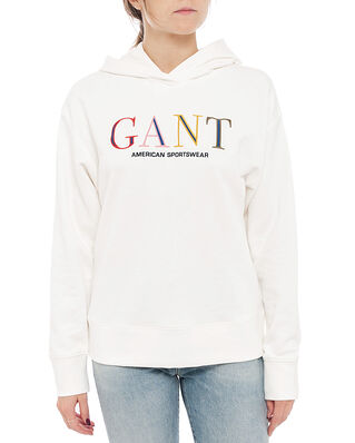 Gant D1. Color Graphic Hoodie Sweat Eggshell