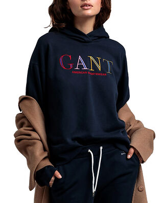 Gant D1. Color Graphic Hoodie Sweat Evening Blue