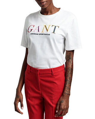 Gant D1. Color Graphic Ss T-Shirt Eggshell