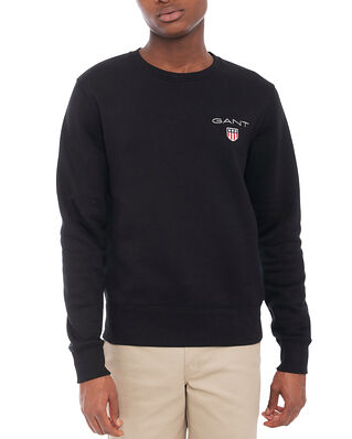 Gant D1. Medium Shield C-Neck Sweat Black
