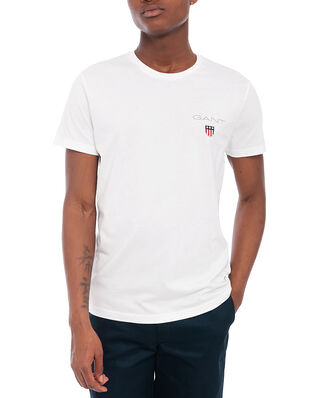 Gant D1. Medium Shield Ss T-Shirt White