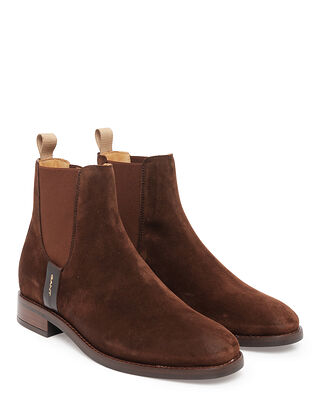 Gant Fayy Suede Chelsea Dark Brown