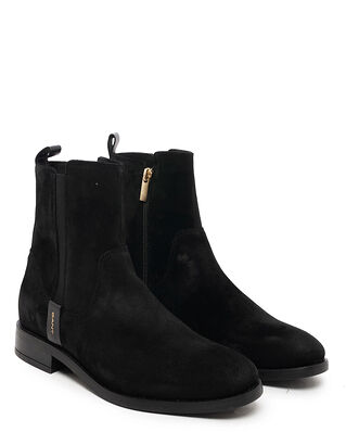 Gant Fayy Suede Mid Zip Boot Black