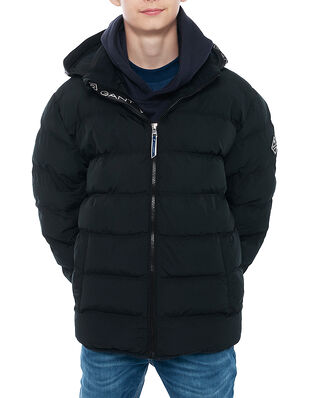 Gant D1. Lock-Up Stripe Puffer Jacket Black