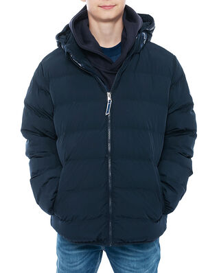 Gant Junior D1. Lock-Up Stripe Puffer Jacket Evening Blue