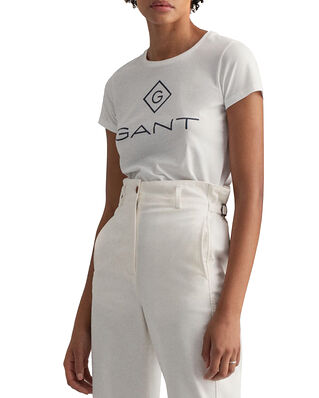 Gant Lock Up Ss T-shirt White