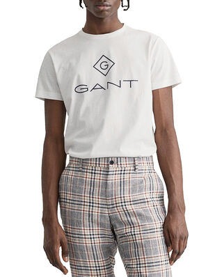 Gant Lock Up SS T-shirt White
