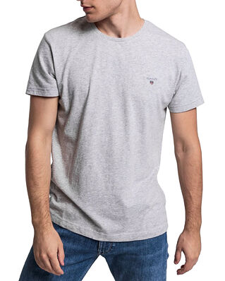 Gant Original Ss T-shirt Grey Melange