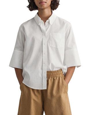 Gant Pinpoint Oxford Bd Ss Shirt White