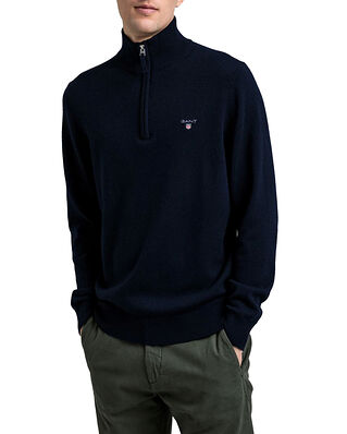 Gant Superfine Lambswool Half Zip Marine