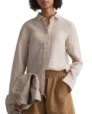Gant The Linen Chambray Shirt Dry Sand