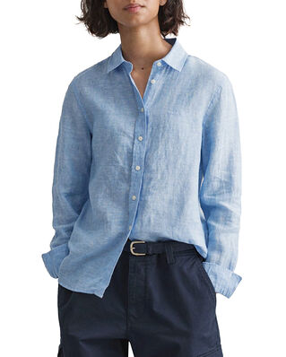 Gant The Linen Chambray Shirt Pacific Blue
