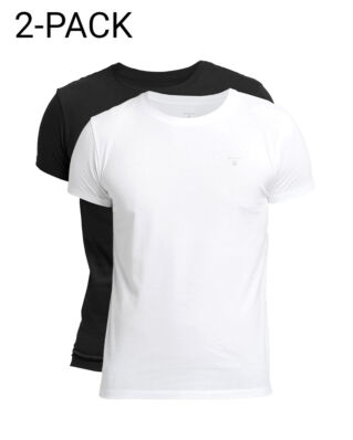 Gant Basic 2-Pack Crew Neck T-Shirt Black/White
