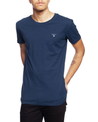 Gant Basic 2-Pack Crew Neck T-Shirt Navy/White