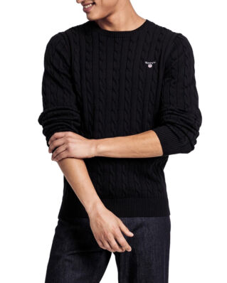 Gant Cotton Cable Crew Black