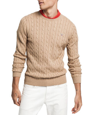 Gant Cotton Cable Crew Khaki Mel