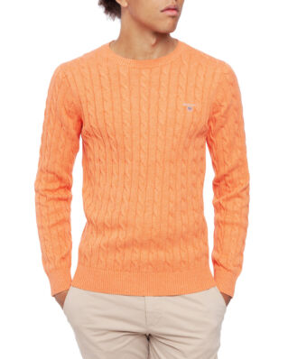Gant Cotton Cable Crew Orange Melange