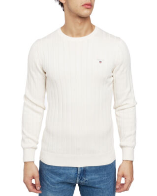 Gant Cotton Rib Crew Cream