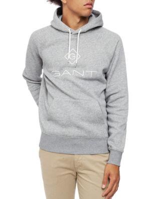 Gant Gant Lock - Up Hoodie Grey Melange