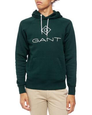 Gant Gant Lock - Up Hoodie Tartan Green