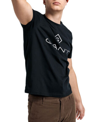 Gant Gant Lock - Up Ss T-Shirt Black